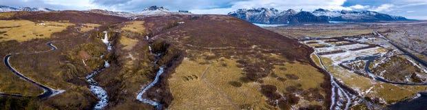 Panorama del paesaggio dell'Islanda Fotografia Stock