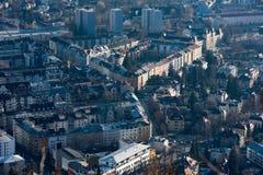Panorama del paesaggio di vista aerea di Innsbruck Immagine Stock Libera da Diritti