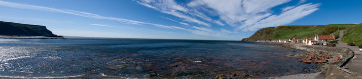 Panorama del paesino di pescatori Fotografie Stock Libere da Diritti