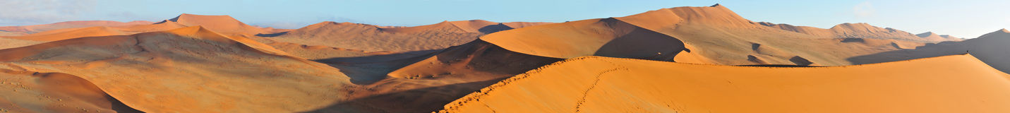 Panorama del paisaje de la duna Imagen de archivo