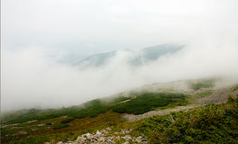 Panorama del paisaje de la montaña, belleza de la naturaleza Fotos de archivo