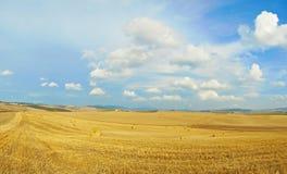 Panorama del paisaje de Toscana fotografía de archivo libre de regalías
