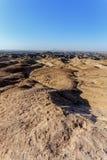 Panorama del paisaje fantrastic del moonscape de Namibia Foto de archivo libre de regalías