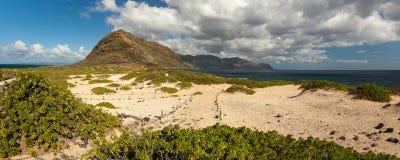 Panorama del paisaje del punto de Kaena Imagen de archivo libre de regalías