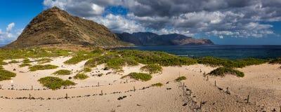 Panorama del paisaje del punto de Kaena Foto de archivo