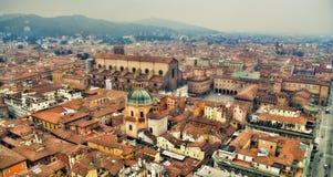 Panorama del paisaje urbano de Bolonia Imágenes de archivo libres de regalías