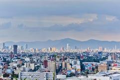 Panorama del paisaje urbano de Ciudad de México foto de archivo libre de regalías