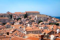 Panorama del paisaje urbano de Dubrovnik Foto de archivo libre de regalías