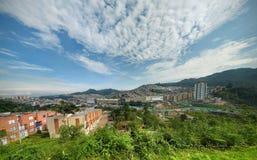 Panorama del paisaje y de edificios en Colombia Imágenes de archivo libres de regalías