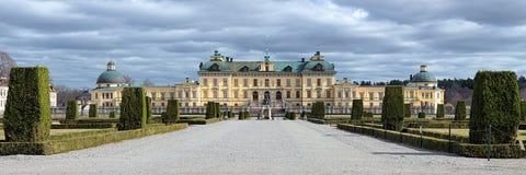 Panorama del palazzo di Drottningholm, Svezia Immagini Stock Libere da Diritti