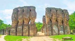 Panorama del palazzo di Polonnaruwa Fotografia Stock