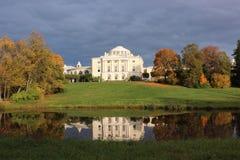 Panorama del palazzo e del parco di Pavlovsk Fotografia Stock Libera da Diritti