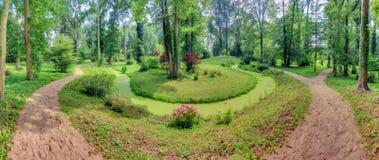 Panorama del parco 180 Fotografia Stock