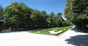 Panorama del parco di Madrid fotografia stock libera da diritti