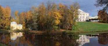 Panorama del parco di Pavlovsk Immagine Stock
