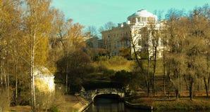 Panorama del parco di Pavlovsky fotografie stock