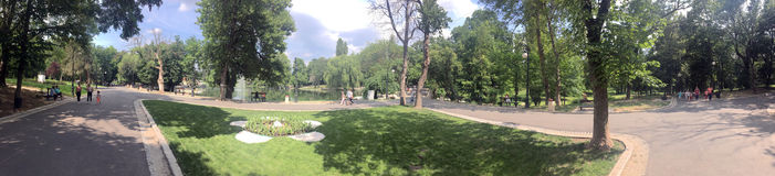 Panorama del parco di Romanescu, Craiova, Romania Fotografie Stock Libere da Diritti
