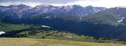 Panorama del parco nazionale della montagna rocciosa Fotografia Stock