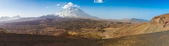 Panorama del parco nazionale di Teide Fotografie Stock