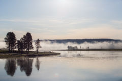 Panorama del parco nazionale di Yellowstone fotografia stock