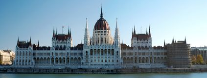 Panorama del Parlamento di Budapest fotografia stock