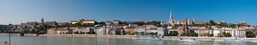 Panorama del Parlamento di Budespest Immagine Stock Libera da Diritti