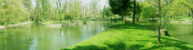 Panorama del parque Imagen de archivo libre de regalías