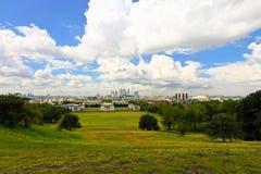 Panorama del parque de Greenwich Foto de archivo