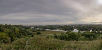 Panorama del parque de la reconstrucción de Moscú foto de archivo libre de regalías