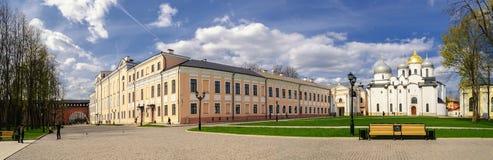 Panorama del parque del Kremlin Imagen de archivo libre de regalías