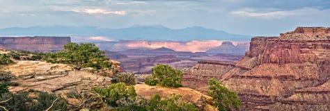 Panorama del parque nacional de Canyonlands, Utah Foto de archivo libre de regalías