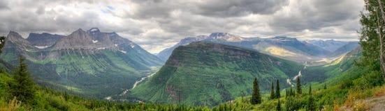 Panorama del parque nacional de glaciar Imagen de archivo libre de regalías