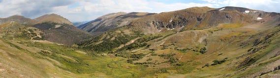 Panorama del Parque Nacional de las Montañas Rocosas Fotografía de archivo
