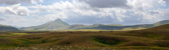 Panorama del parque nacional del sasso de Gran Fotos de archivo