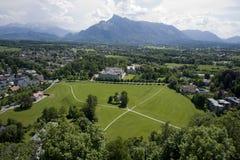 Panorama del pendio di collina dalla fortezza di Hohensalzbrug fotografie stock libere da diritti
