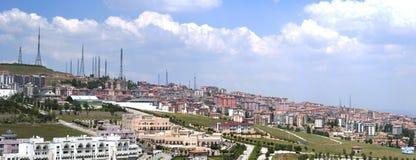 Panorama del pendio di collina di Ankara Immagine Stock