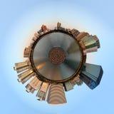 Panorama del pianeta di Immagini Stock