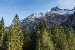 Panorama del picco di Bluemlisalp delle alpi, Svizzera Immagini Stock Libere da Diritti