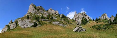 Panorama del pico de Ciucas Fotos de archivo
