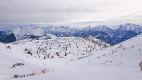 Panorama del plateau della montagna di Feuerkogel, Salzkammergut, Austria