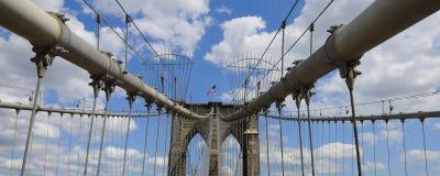 Panorama del ponte di Brooklyn Fotografia Stock