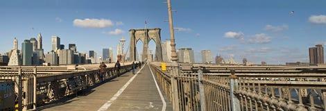 Panorama del ponte di Brooklyn fotografie stock libere da diritti