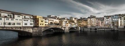 Panorama del ponte di Ponte Vecchio Fotografia Stock Libera da Diritti