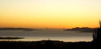 Panorama del ponticello di cancello dorato Immagini Stock Libere da Diritti