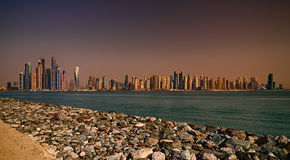 Panorama del porticciolo del Dubai, Dubai, Emirati Arabi Uniti Immagini Stock Libere da Diritti