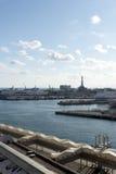 Panorama del porto di Genova Fotografia Stock