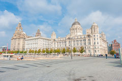 Panorama del porto di Liverpool Immagini Stock Libere da Diritti