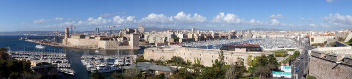 Panorama del porto di Marsiglia, Francia Fotografia Stock Libera da Diritti