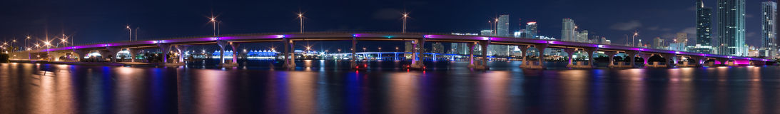 Panorama del porto di Miami fotografia stock libera da diritti