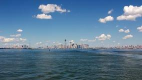 Panorama del porto di NYC Fotografia Stock